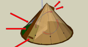 NorTent Tipi 6 has many options to achieve a nice indoor climate.
